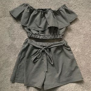 Two Piece Gingham Set